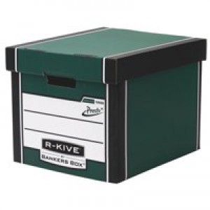 Fellowes R-Kive Premium 726 Archive Storage Box W330xD381xH298mm Green and White Ref 7260802 [Pack 10]
