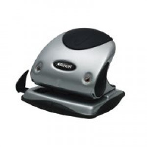 Rexel P225 2 Hole Punch Silver/Black Code 2100743