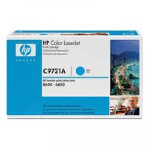 Hewlett Packard [HP] No. 641A Laser Toner Cartridge Page Life 8000pp Cyan Ref C9721A