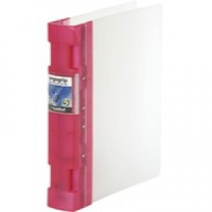 Guildhall GLX Ergogrip Frosted Ring Binder Raspberry 4545