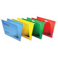 Rexel Crystalfile Flexifile Suspension File Manilla V-base Foolscap Yellow Ref 3000043 [Pack 50]