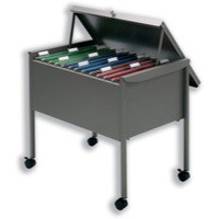 Image for Filing Trolley Suspension with Lockable Lid for 100 Files