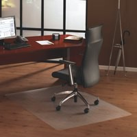 Chair Mat Polycarbonate Rectangular for Carpet Protection 1190x890mm Clear