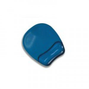 """Fellowes Crystalsâ""""¢ Gel Mouse Pad/Wrist Support Blue"""