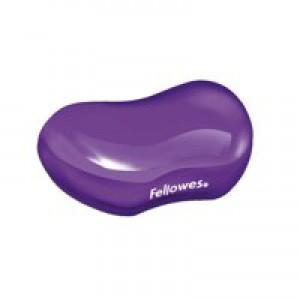"Fellowes Crystalsâ""¢ Gel Flex Rest Wrist Support Purple"