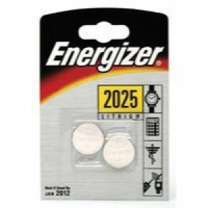 Energizer CR2025 Battery Lithium for Small Electronics 5003LC 163mAh 3V Ref 626981 [Pack 2]