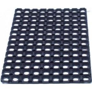 Door Mat Indoor and Outdoor Rubber 600mmx800mm Black