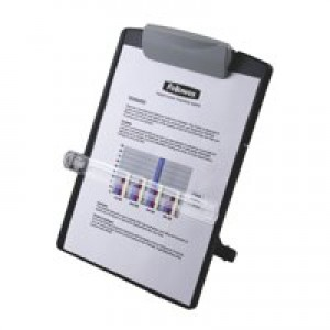 Fellowes Desktop Copyholder Adjustable Landscape or Portrait View 254x98x358mm Graphite Ref 9169701