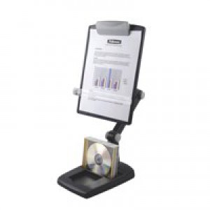 Fellowes Weighted Base Multipositional Copyholder Landscape And Portrait 3 Joints Graphite 9169801