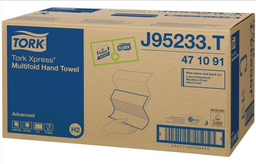Z-Fold Hand Towels 2-ply 200 Sheets White Ref J95233C [Pack 12]