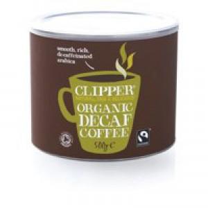 Fair Trade Instant Decaffeinated Coffee Organic Granules Freeze Dried Tin 500g Code A06746