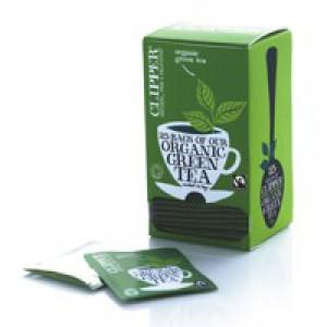 Clipper Organic Green Tea Fairtrade Light and Refreshing Teabags Ref A06744 [Pack 25]