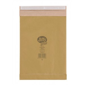 Jiffy Green Padded Bags with Kraft Outer Recycled Paper Cushioning No.5 245x381mm Code 01901