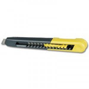 Stanley Heavy-duty Knife with ABS Plastic Body with 9mm Snap-Off Blade Ref 0-10-150