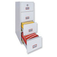 Phoenix Firefile Filing Cabinet Fire Resistant 4 Lockable Drawers 266Kg W530xD675xH1495mm Ref 2244
