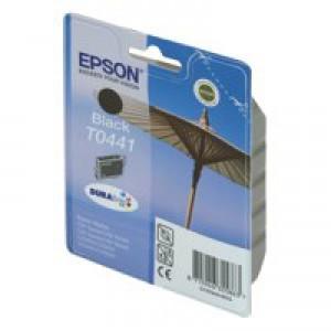 Epson T0441 Inkjet Cartridge DURABrite Parasol Page Life 400pp Black Ref C13T04414010