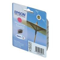 Epson T0453 Inkjet Cartridge DURABrite Parasol Page Life 250pp Magenta Ref C13T04534010