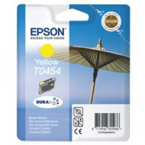 Epson T0454 Inkjet Cartridge DURABrite Parasol Page Life 250pp Yellow Ref C13T04544010