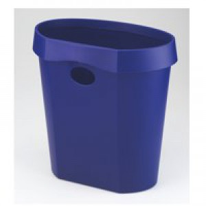 Avery DR500 Waste Bin with Rim Flat Back 18 Litres W350xD250xH340mm Blue Ref DR500BLU