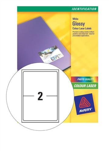 Avery Addressing Labels Colour Laser 2 per Sheet 199.6x143.5mm Ref L7768-40 [80 Labels]