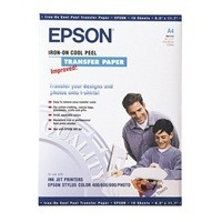 Epson Cool Peel Iron-On Transfer Paper Pack of 10 S041154 C13S041154