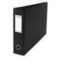 Elba Lever Arch File PVC 2-Ring 70mm Capacity Landscape Black A3 Ref 100082430 [Pack 2]