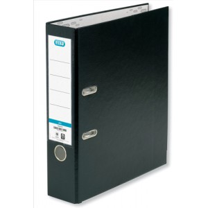 Elba Lever Arch File PVC 70mm Spine A4 Black