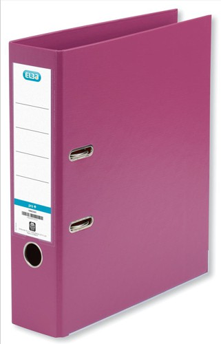 Elba Lever Arch File PVC 70mm Spine A4 Pink Ref 100082461 [Pack 10]