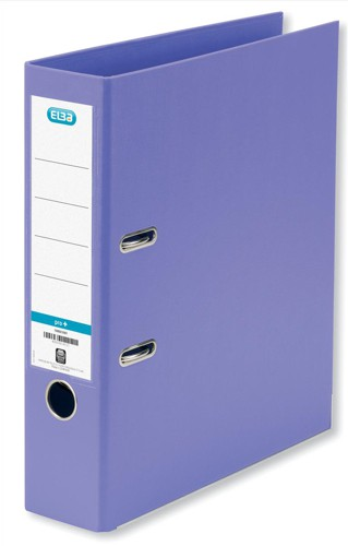 Elba Lever Arch File PVC 70mm Spine A4 Purple Ref 100080906 [Pack 10]