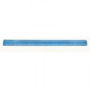 Helix Ruler Plastic Shatter-resistant Gridded Inches and Metric 457mm Blue Tint Ref L28010