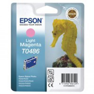 Epson T0486 Inkjet Cartridge Seahorse Page Life 400pp Light Magenta Ref C13T04864010