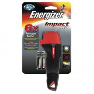 Energizer Impact LED Torch Weatherproof 16hr 28 Lumens 2AA Ref 632629