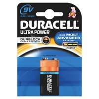 Duracell Ultra Power MX1604 Battery Alkaline 9V Ref 81235531