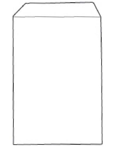 White Box Envelope Pocket Manilla Press Seal Plain C4 Buff [Pack 250]