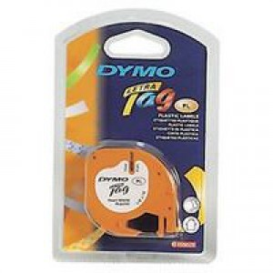 Dymo LetraTag Tape Plastic 12mmx4m Ultra Blue Code S0721650