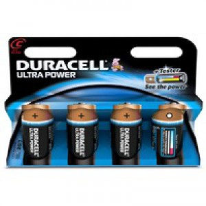 Duracell Ultra Power MX1400 Battery Alkaline 1.5V C Ref 81235528 [Pack 4]