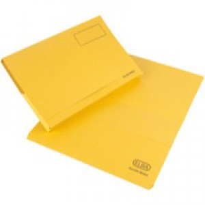 Elba Bright Manilla Document Wallet 285gsm Capacity 32mm Foolscap Yellow Ref 100090141 [Pack 25]