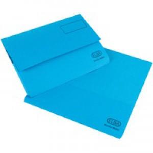 Elba Bright Manilla Document Wallet 285gsm Capacity 32mm Foolscap Blue