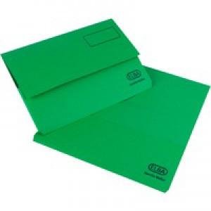Elba Bright Manilla Document Wallet 285gsm Capacity 32mm Foolscap Green