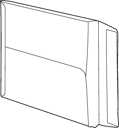 White Box Envelope Gusset Peel and Seal 115gsm Manilla C4 [Pack 125]