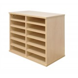 Tercel Post Room Sorter Hutch Multi-use Single Height 2 Bay Can Fit 12 Shelves W640xD360xH638mm Maple