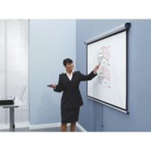 Nobo Wall Projection Screen for DLP LCD 4:3 Format Black-bordered W1500xH1138mm Ref 1902391