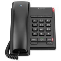 BT Converse 2100 Telephone 1 Redial Mute Function 3 Number Memory Black Ref 040206