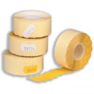 Avery Labels for Labelling Gun 1-Line Removable Yellow 12x26mm 1500 per Roll Ref YR1226 [Pack 10]