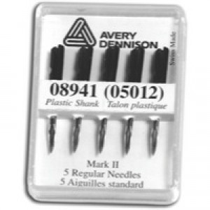 Avery Replacement Needles for Mark III Swiftach Tagging Gun Ref 05012 [Pack 5]