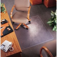 5 Star Chair Mat Carpet Protection PVC W900xD1200mm Clear/Transparent