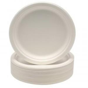 Plates Rigid Biodegradable Microwaveable Diameter 230mm [Pack 50]