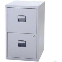 Trexus by Bisley SoHo Filing Cabinet Steel Lockable 2-Drawer A4 W413xD400xH672mm Grey