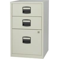 Trexus by Bisley SoHo Filing Cabinet Steel Lockable 3-Drawer A4 W413xD400xH672mm Grey