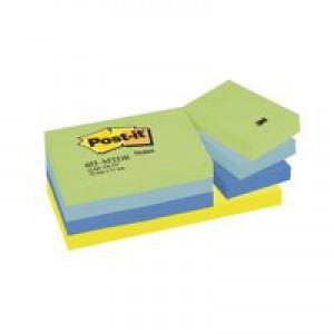 3M Post-it Notes Cool Neon Rainbow 38x51mm Pad Code 653MT